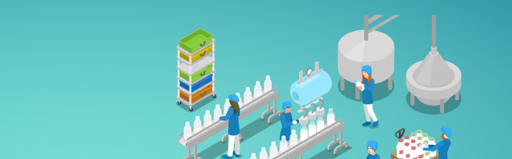 illustration clean food processing - food safety